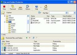File and Folder Protector Screenshot