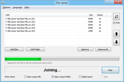 File Joiner Screenshot