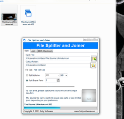 File Splitter and Joiner Screenshot