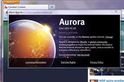Firefox Aurora Beta Screenshot
