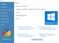 FixWin Screenshot