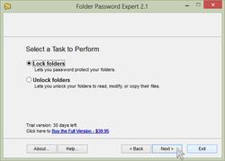 Folder Password Expert Screenshot