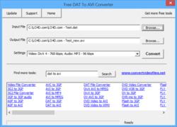 Free DAT to AVI Converter Screenshot