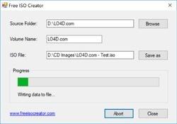 Free ISO Creator Screenshot