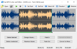 Free MP3 Cutter and Editor Screenshot