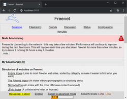 Freenet Screenshot