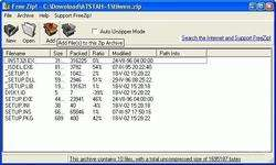 FreeZip Screenshot