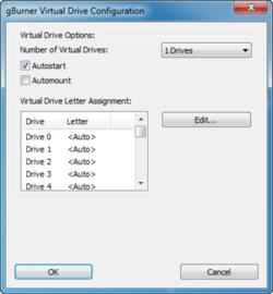 gBurner Virtual Drive Screenshot
