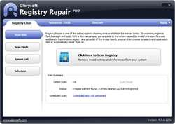 Glarysoft Registry Repair Screenshot