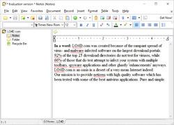 Golden Section Notes Screenshot