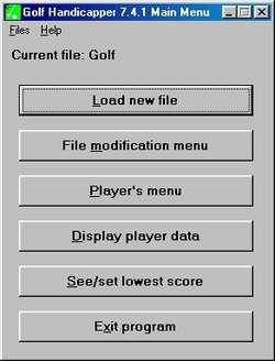 Golf Handicapper Screenshot