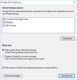 Google Photos Backup Screenshot