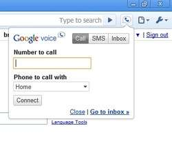 Google Voice and Video Chat Screenshot