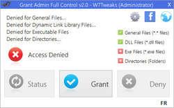 Grant Admin Full Control Screenshot