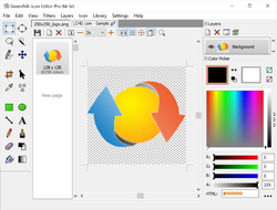 Greenfish Icon Editor Pro Screenshot