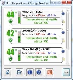 HDD Temperature SCSI Screenshot