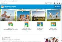 HP Photo Creations Screenshot