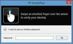 HP SimplePass Screenshot