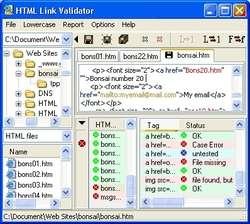 HTML Link Validator Screenshot
