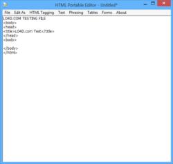 HTML Portable Editor Screenshot