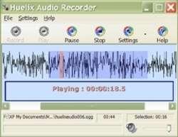 Huelix Audio Recorder Screenshot