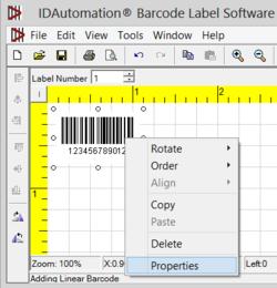 IDAutomation Barcode Label Software Screenshot