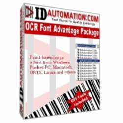 IDAutomation OCR-A and OCR-B Font Advantage Packag Screenshot