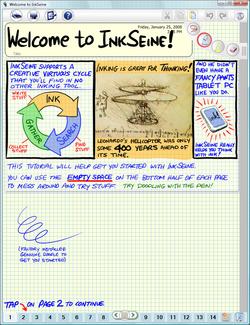 InkSeine Screenshot