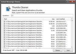 Instant Messenger Cleaner Screenshot