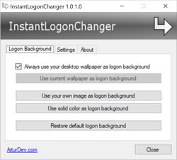 InstantLogonChanger Screenshot