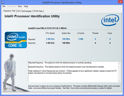 Intel Chipset Identification Utility Screenshot