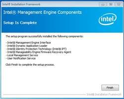 Intel Management Engine Components Screenshot