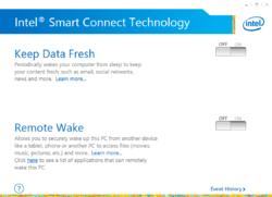Intel Smart Connect Technology Screenshot