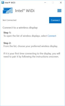 Intel WiDi Screenshot