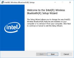 Intel Wireless Bluetooth Screenshot
