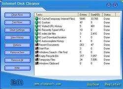 Internet Disk Cleaner Screenshot