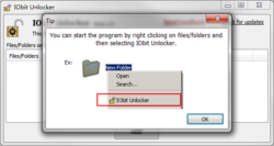 IObit Unlocker Screenshot