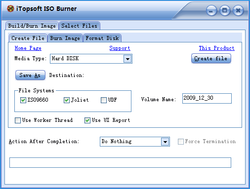 iTopsoft ISO Burner Screenshot