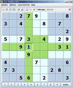 Java-Sudoku Screenshot