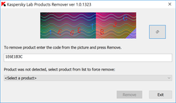 Kaspersky Lab Products Remover Screenshot