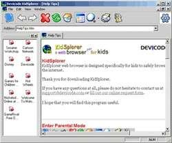 KidSplorer Web Browser Screenshot