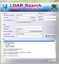 LDAP Search Screenshot