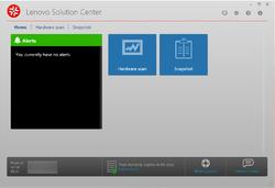 Lenovo Solution Center Screenshot