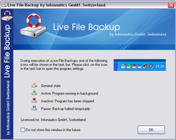 Live File Backup Screenshot