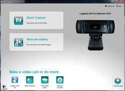Logitech HD Webcam Software Screenshot