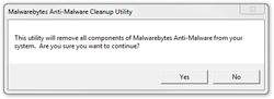 Malwarebytes Anti Malware Cleanup Utility Screenshot