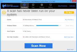 Malwarebytes Anti-Malware Screenshot
