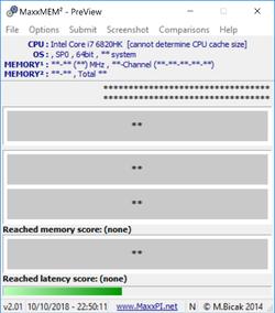 MaxxMEM2 Screenshot