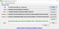 MD5 SHA Checksum Utility Screenshot