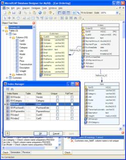 microOLAP database designer for MySQL Screenshot
